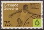 Stamps : America : Grenada :  Granada Granadinas 1975 Scott 106 Sello ** Deportes Pan American Games Mexico Disco 75c Grenada Gren