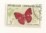 Stamps Central African Republic -  Mariposa