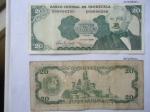 monedas del Mundo : America : Venezuela :  Bco.Central de V/zuela-(Anv.) General José A. Paez. (Rev.) Monumento y Escudo.