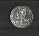 monedas de America - Estados Unidos -  Mercurio / reverso