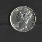 monedas de America - Estados Unidos -  Mercurio / anverso