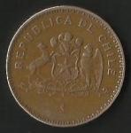 monedas de America - Chile -  MONEDA DE CHILE CIEN PESOS - ESCUDO -  POSTERIOR