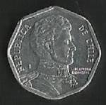 monedas de America - Chile -  MONEDA DE CHILE UN PESO - BERNARDO OHIGGINS - POSTERIOR