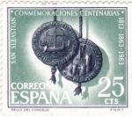 Sellos de Europa - España -  San Sebastian- Conmemoraciones Centenarias   (1)