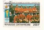 Stamps Africa - Central African Republic -  Campeonato del Mundo de futbol. España 1982