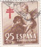 Stamps Spain -  Pro Tuberculosos  (1) VTA. 9€