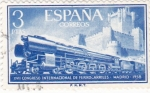 Stamps Spain -  XVII Congreso Internacional de Ferrocarriles  (1) VTA.
