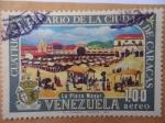 Stamps Venezuela -  Cuatricentenario de la Ciudad de Caracas-La Plaza Mayor.1567-1967