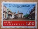 Sellos de America - Venezuela -  Cuatricentenario de la Ciudad de la Ciudad de Maracaibi-1567-1967- Plaza Baralt.