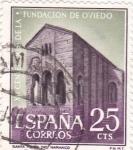 Sellos de Europa - España -  XII Centenario de la Fundación de Oviedo   (1)