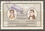 Stamps Costa Rica -  JOSÈ  CECILIO  DEL  VALLE   Y   DIONISIO  DE  HERRERA
