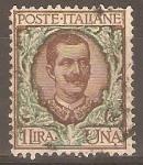 Sellos de Europa - Italia -  REY  VICTOR  EMMANUEL   III