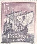 Sellos de Europa - España -  Nave Medieval-Homenaje a la marina Española  (1)