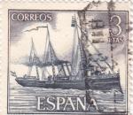 Sellos de Europa - España -  Destructor -Homenaje a la marina Española  (1)