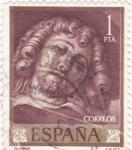 Stamps Spain -  Autorretrato de Rubens  (1)