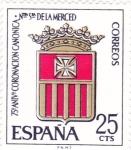 Sellos de Europa - España -   Escudo de la Orden-75 Aniversario de la coronación de Nuestra Señora de la Merced  (1)