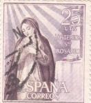 Sellos de Europa - España -  Anunciación - Misterios del Santo Rosario (1)