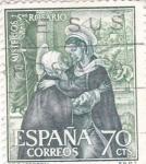 Stamps Spain -  Visitación- Misterios del Santo Rosario (1)
