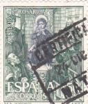 Sellos de Europa - España -  Jesús con los Doctores- Misterios del Santo Rosario (1)