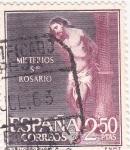 Sellos de Europa - España -  Flagelación - Misterios del Santo Rosario (1)