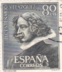 Stamps Spain -  Escultura de Velazquez - III Centenario de la muerte de Velázquez (1)