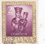 Stamps Spain -  Virgen de Irache - VII Exposición del Consejo de Europa