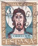 Stamps Spain -  Pantocrátor de San Clemente de Tahull- VII Exposición del Consejo de Europa