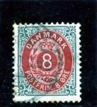 Stamps Europe - Denmark -  Filigrana