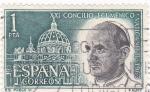 Sellos de Europa - España -  Concilio Ecuménico Vaticano II-  Pablo VI (1)