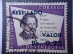 Sellos de America - Venezuela -  Primer Centenario de la Muerte de Agustín Codazzi 1859-1959