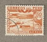 Stamps Peru -  Toma de la Achirana,Rio Ica