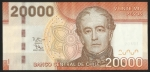 monedas de America - Chile -  ANDRES BELLO - VEINTE MIL PESOS (FRONTAL)