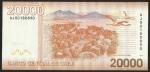 monedas de America - Chile -  MONUMENTO NATURAL SALAR DE SURIRE - VEINTE MIL PESOS (POSTERIOR)