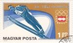 Sellos de Europa - Hungría -  Olimpiada de Invierno Innsbruck-76 salto de esquí