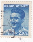 Stamps : Europe : Czechoslovakia :  J. Fucik