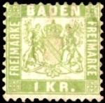 Sellos de Europa - Alemania -  Baden 1868 scott 26