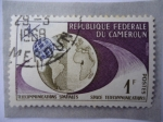 Stamps : Africa : Cameroon :  Republique Federale du Cameroun- Telecommunications Sppatiales