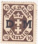 Stamps Poland -  Danzig- ciudad liberada