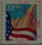 Sellos de America - Estados Unidos -  Bandera de Estados Unidos