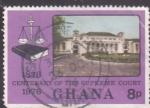 Stamps Ghana -  1876-1976 centenario Tribunal de Justicia