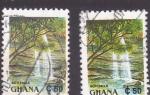 Stamps Ghana -  Cataratas Boti Falls