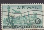Stamps United States -  Estatua de la Libertad y New York