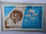 Sellos de Africa - República Democrática del Congo -  Anniversaire de l´independance- 30 Juin 1965