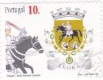 Sellos de Europa - Portugal -  Escudo de EVORA