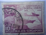 Sellos del Mundo : Asia : Malasia : Universal Postal Union 1874-1949- Malaya-Singapore