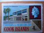 Stamps United Kingdom -  75 anniversary of the first Cook Islands Stamp-