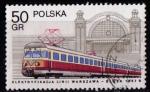 Sellos de Asia - Polonia -  Historia de las comunicaciones por ferrocarril