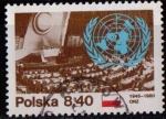 Sellos de Europa - Polonia -  35º aniv. ONU