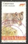 Sellos de America - México -  1555 - Conservemos la fauna en peligro de extinción, lobo americano
