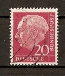 Sellos de Europa - Alemania -  Theodore Heuss.